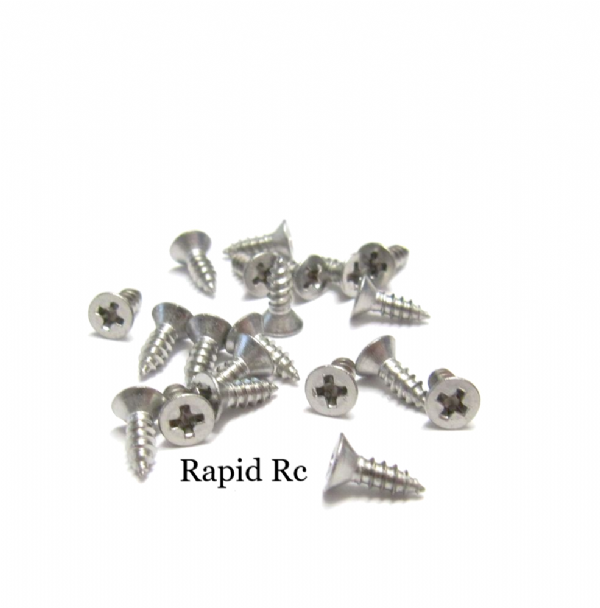 Stainless steel A2 Counter Sunk  Phillips Head Self Tapping screw 2.2mm x 6.5mm